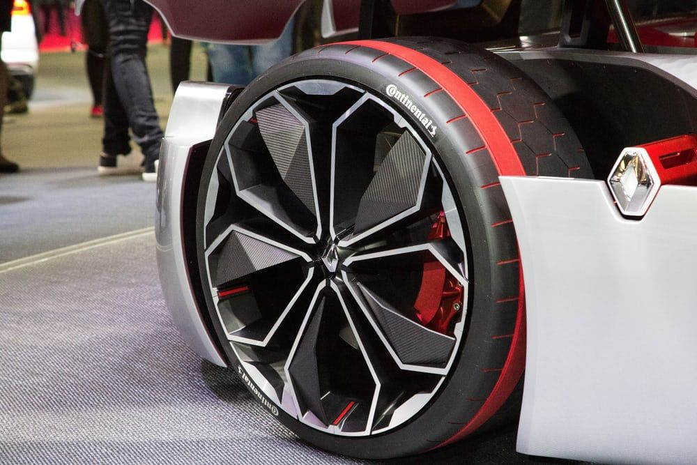 Part of the specially designed Continental tire's tread is aimed at optimizing the clearance of surface...