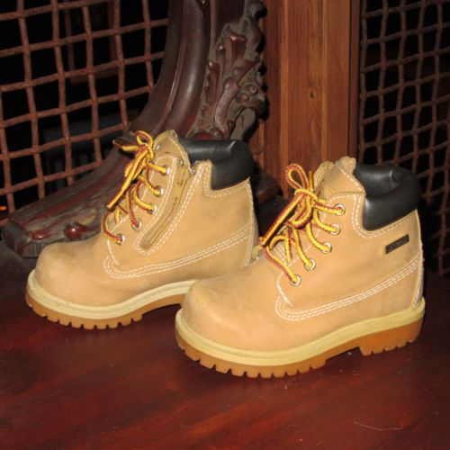 Nice! SMARTFIT Wheat workboots toddler SZ 7 Waterproof Boots! boys ...