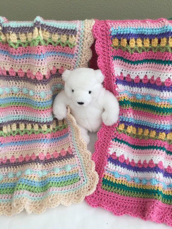 Crochet bebé manta patrón patrón de la por DeborahOLearyPattern ...