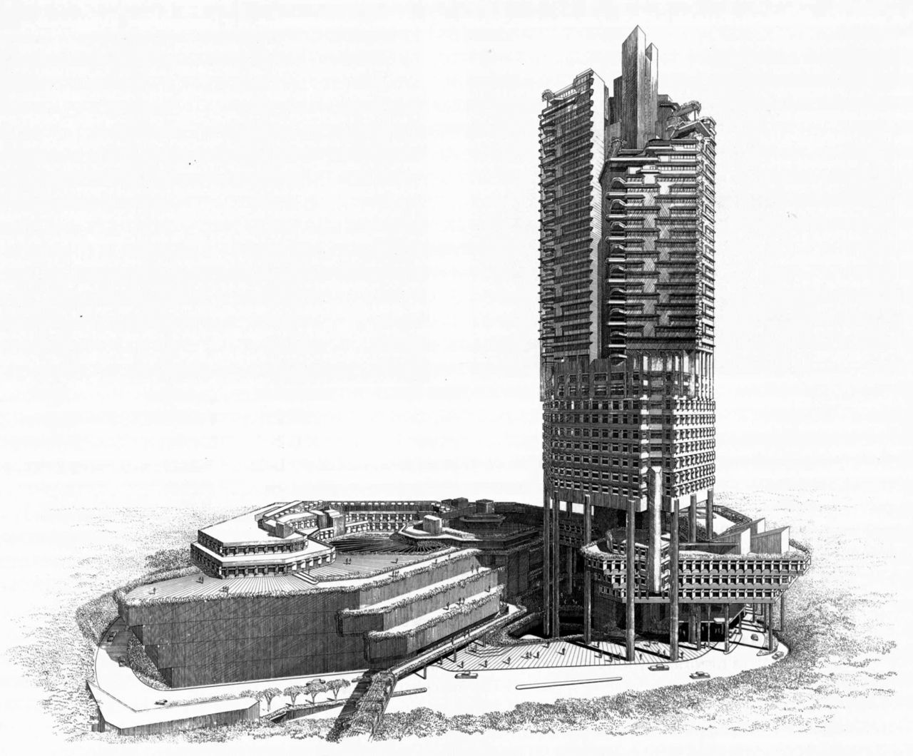 Paul Rudolph Hong Fok Center Singapore 1980 Architecture Design Process Architecture Drawing Cover Photos