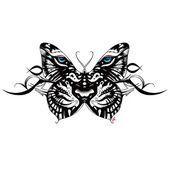 Photo of Tiger Face Butterfly Tattoo Design 49 symboles de tatouage qui représentent la force ……