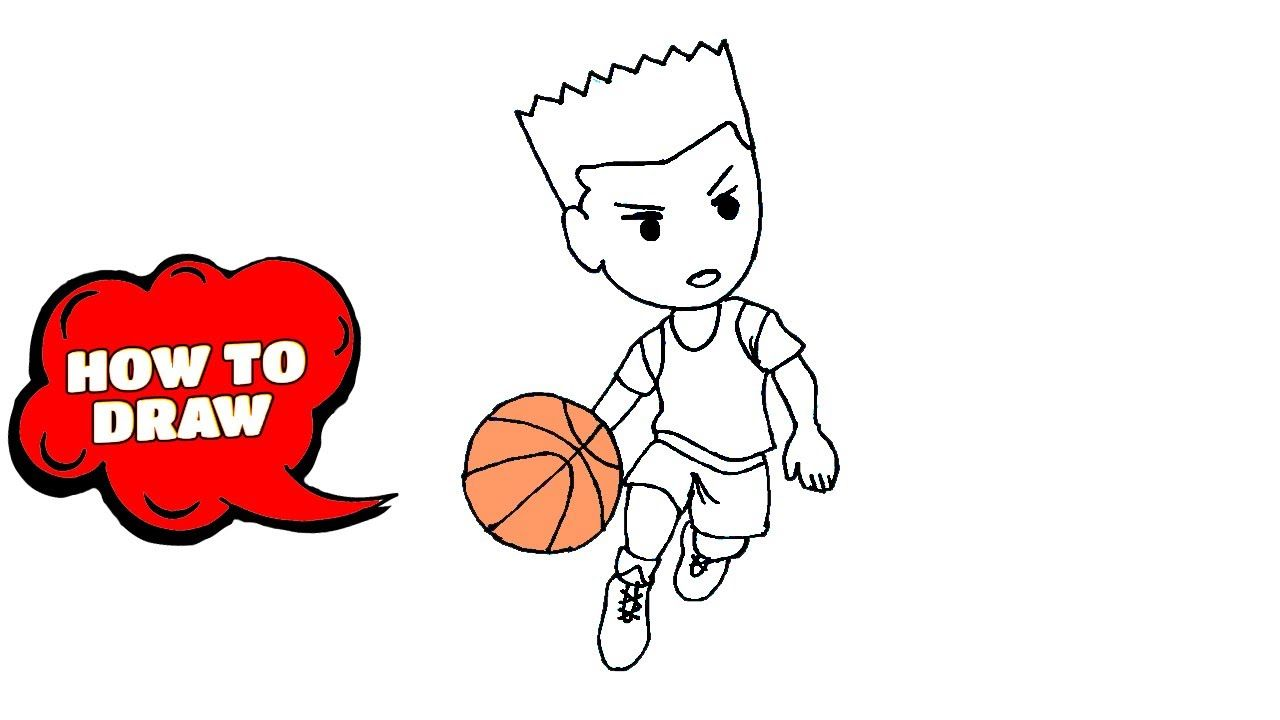 How To Draw Basketball Players Lets Draw Drawing Lessons In 2020 Drawing Lessons Art Tutorials Drawing Drawings