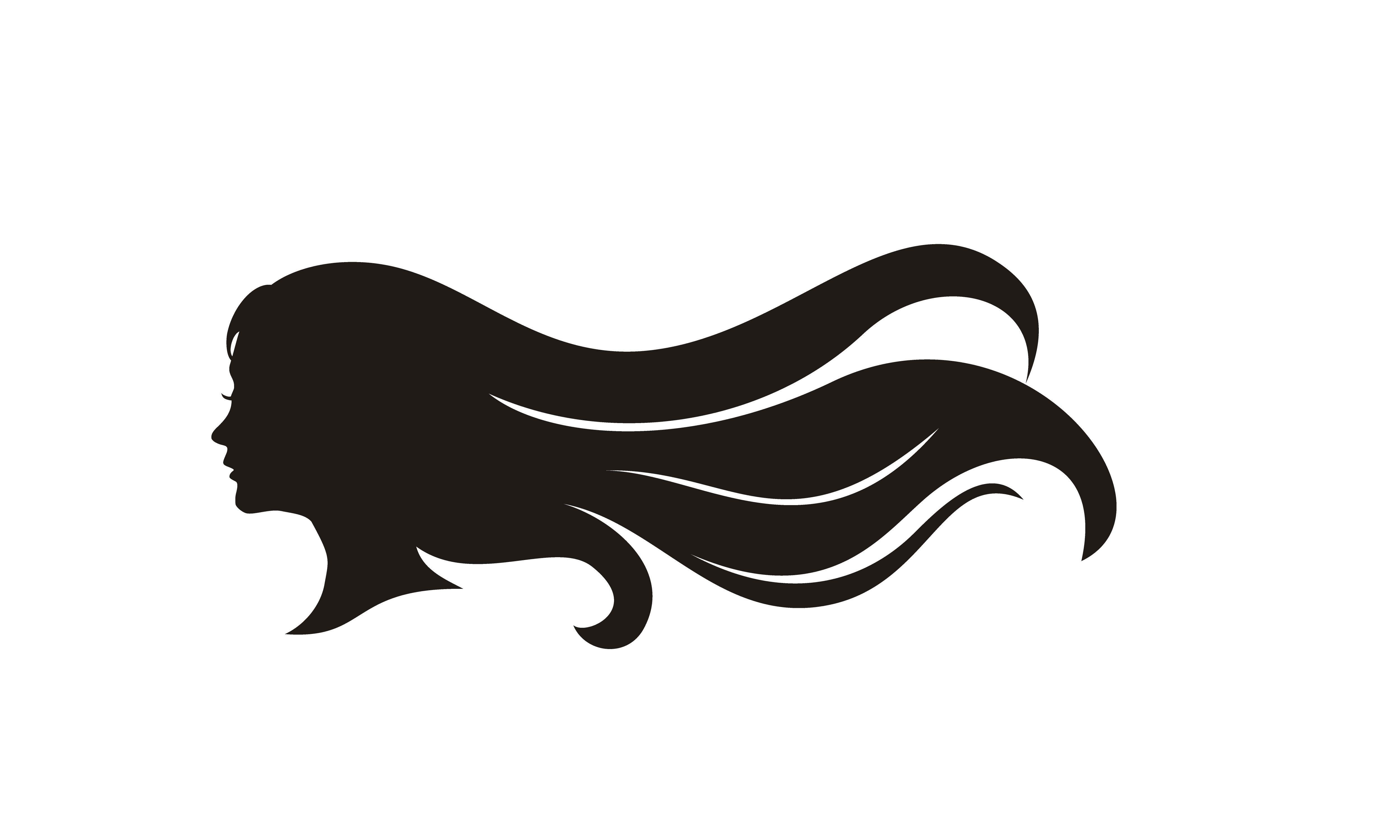 Beauty Girl Woman Long Hair Silhouette Graphic By Enola99d Creative Fabrica Hair Logo Hair Logo Design Long Hair Styles
