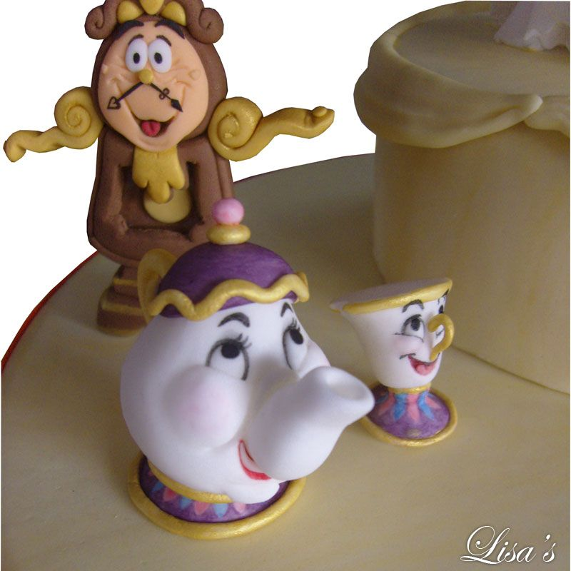 Mrs Pot Chip Cake Topper Lisas Beauty And The Beast