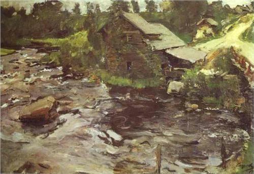 Watermill in Finland - Valentin Serov