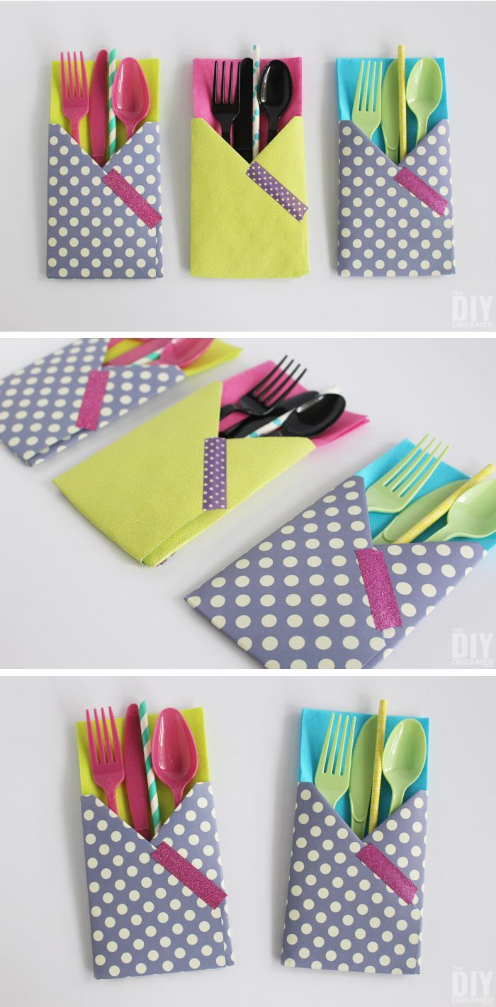 Crafting with Paper: DIY Utensil Holders! These little guys are so easy to make…