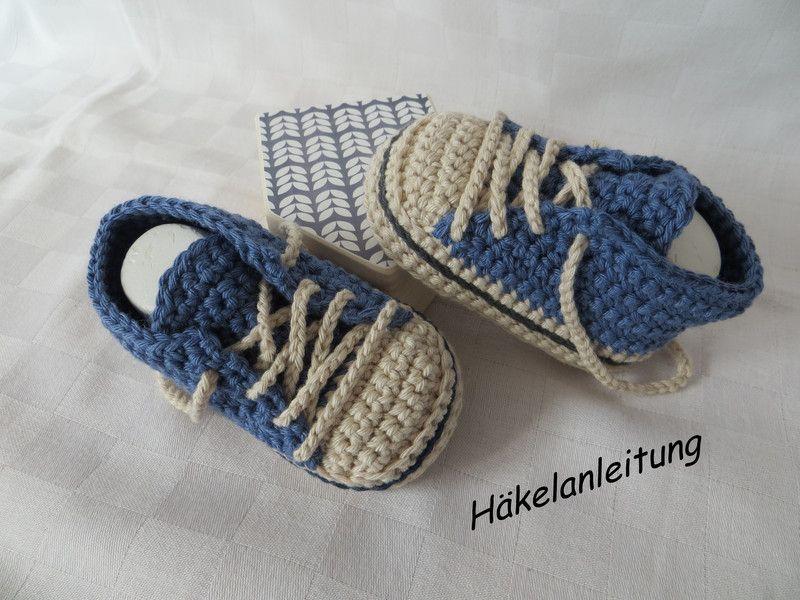 Strick- | Babyschuhe häkeln anleitung, Baby turnschuhe