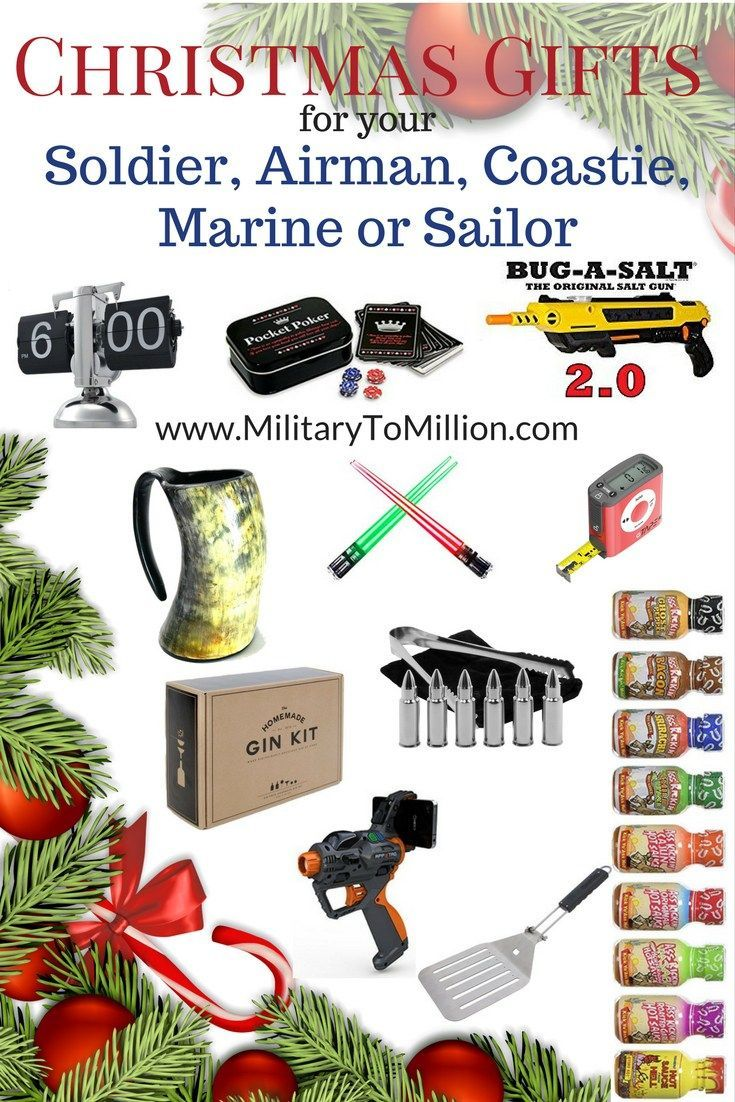 Christmas gifts for your soldier airman coastie marine