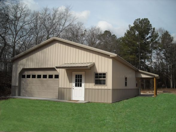 Pole Barn Garage With Mancave In The Back Double Garage