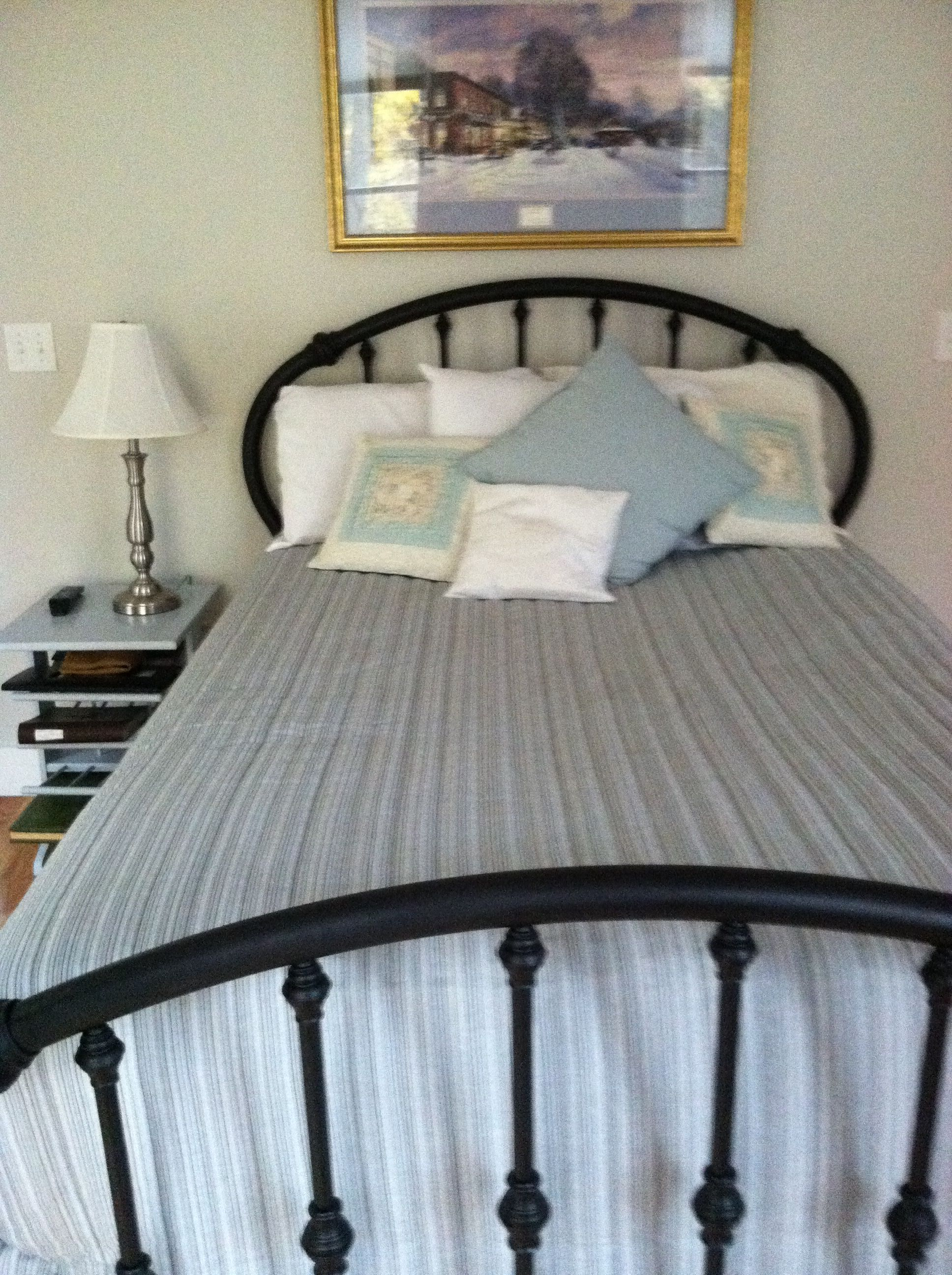 Brass Bed Now Black Painted Bed