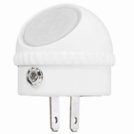 Globe Electric Automatic Dusk To Dawn Directional Led Night Light 2 Pack White Finish 3000 Kelvin White Products In 2019 Led Night Light Night Light Du
