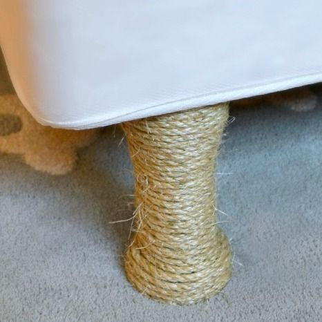 Sisal Wrapped Legs This Was For A Bed Frame But Would Look Good