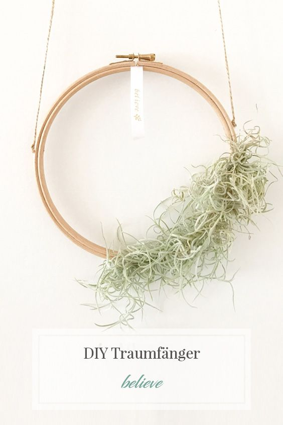 diy traumf nger skandinavian style diy deko pinterest pflanzen tr ume und stickrahmen. Black Bedroom Furniture Sets. Home Design Ideas