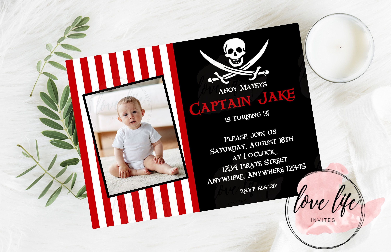 Pirate Birthday Invitation | Love Life Invites | Pinterest | Pirate ...
