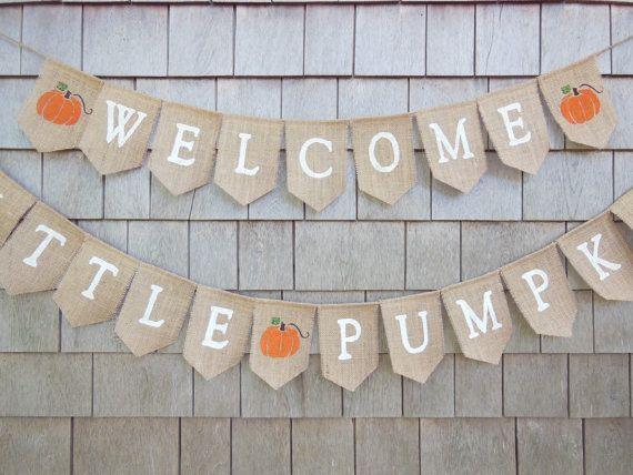 Little Pumpkin Banner; Baby shower//birthday banner