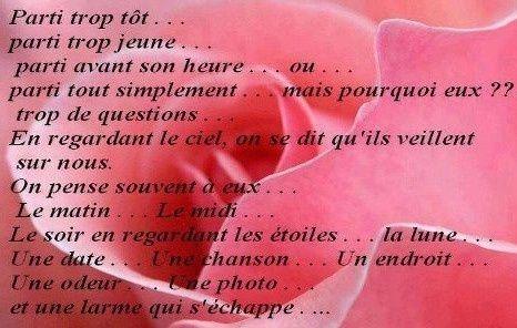 Photo Tu Es Parti Trop Tôt Texte Sur La Mort Texte