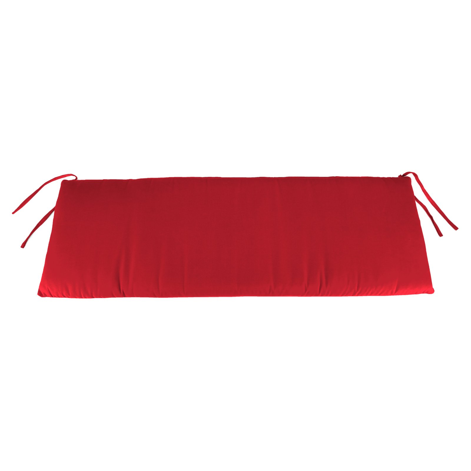 Jordan Manufacturing Sunbrella 48 X 18 In Bench Cushion Canvas Jockey Red