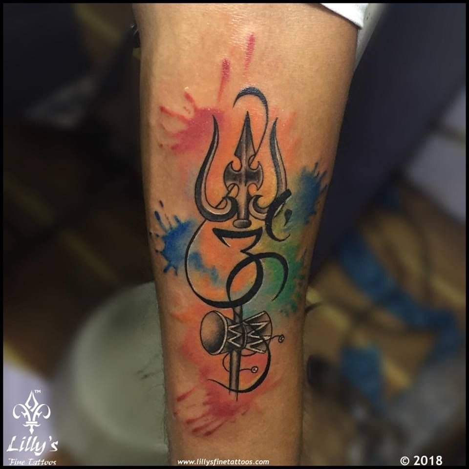 Shiva Elements With Watercolor By Deepak Vetal At Lilly's