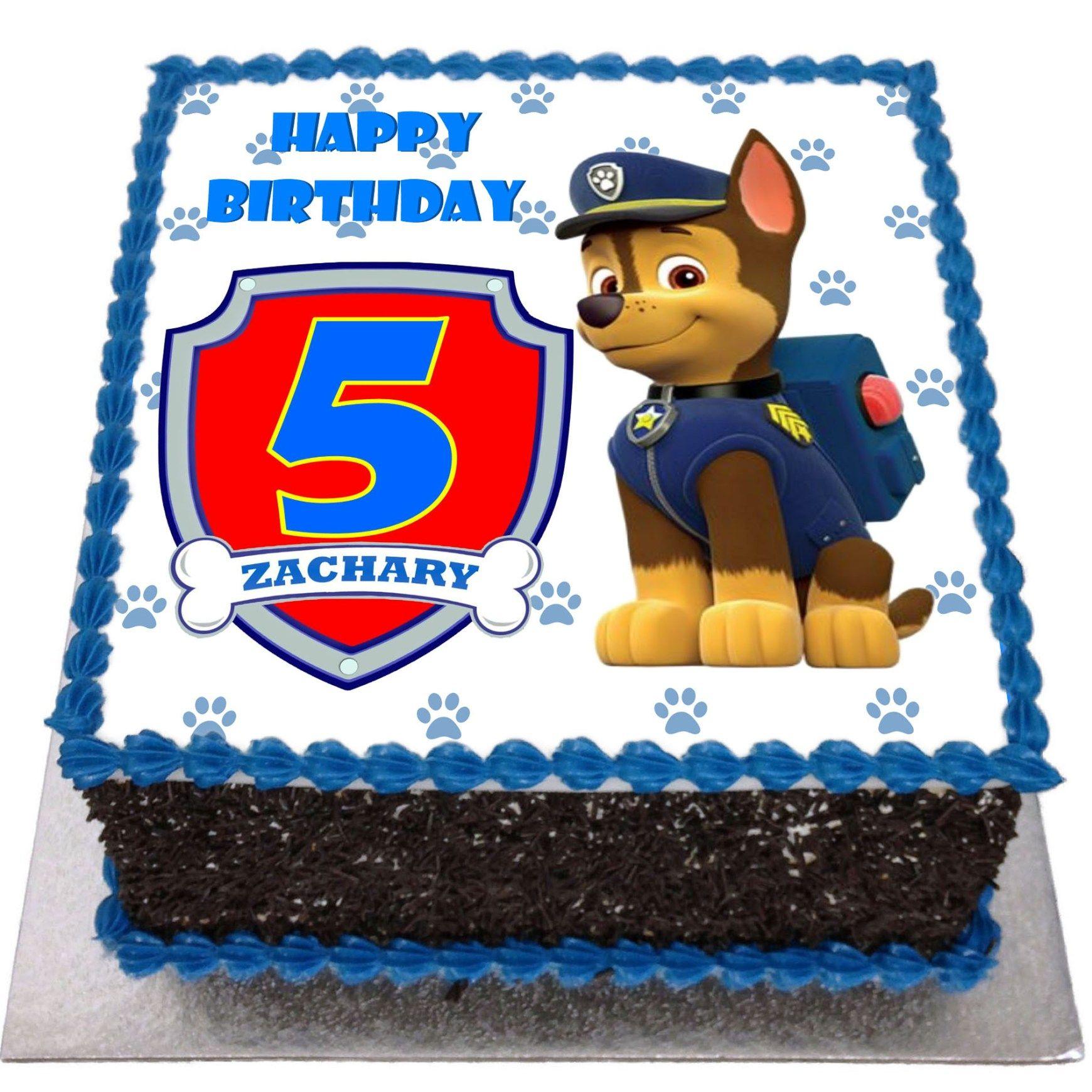 Paw patrol birthday cake paw patrol birthday cake flecks