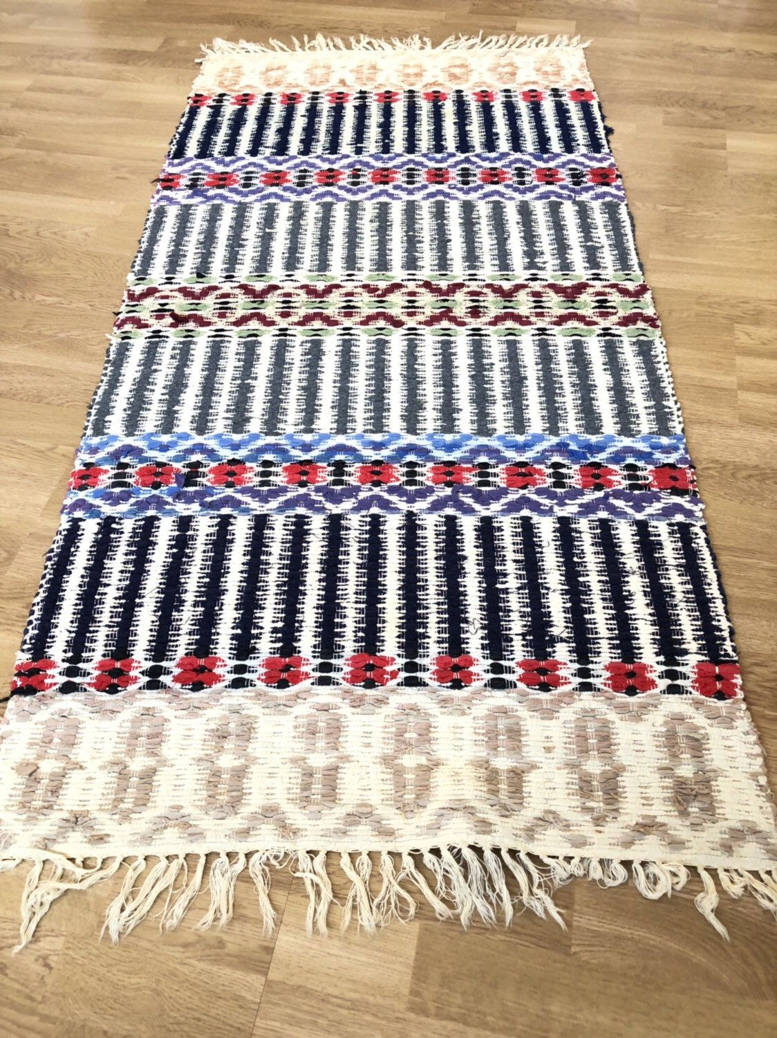 Excited To Share This Item From My Etsy Shop Nordic Handwoven Rag Rug Carpet Traditional Scandinavian Folk Craft Rosengang Rag Rug Scandinavian Rug Rugs