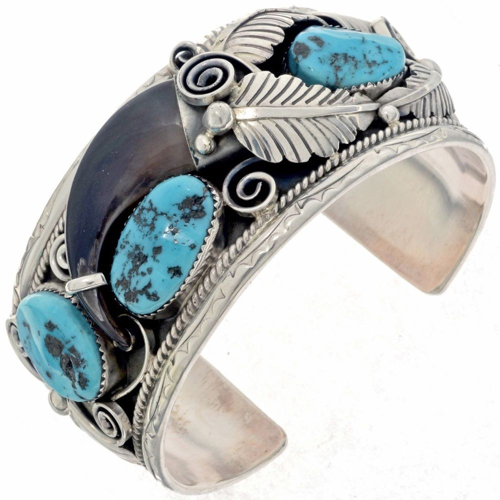 5a65d693c4e36 Details about Native American Navajo Sterling Silver Turquoise ...