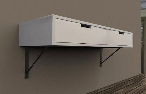 Escritorio De Diseño   Flotante Con Cajones Diseño de espacios + - diseo de escritorios