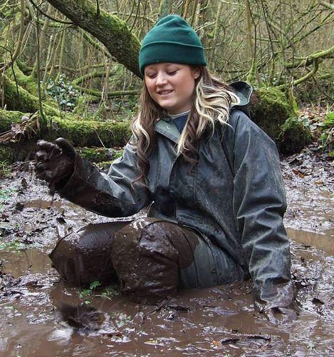 Muddy Rainwear Girl