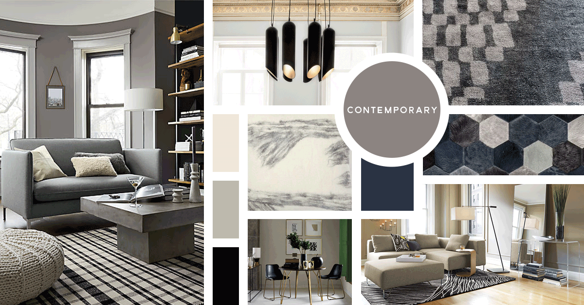Contemporary Interior Design Style Sources From Top Left Cb2