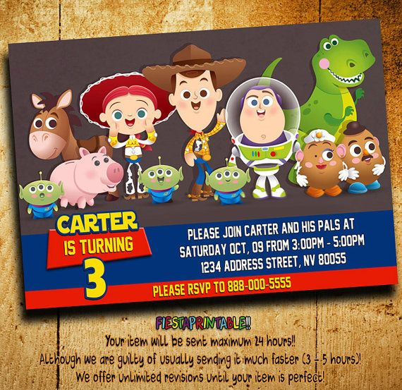 Invitations Toy Story Invitation Toy Story by fiestaprintable Toy