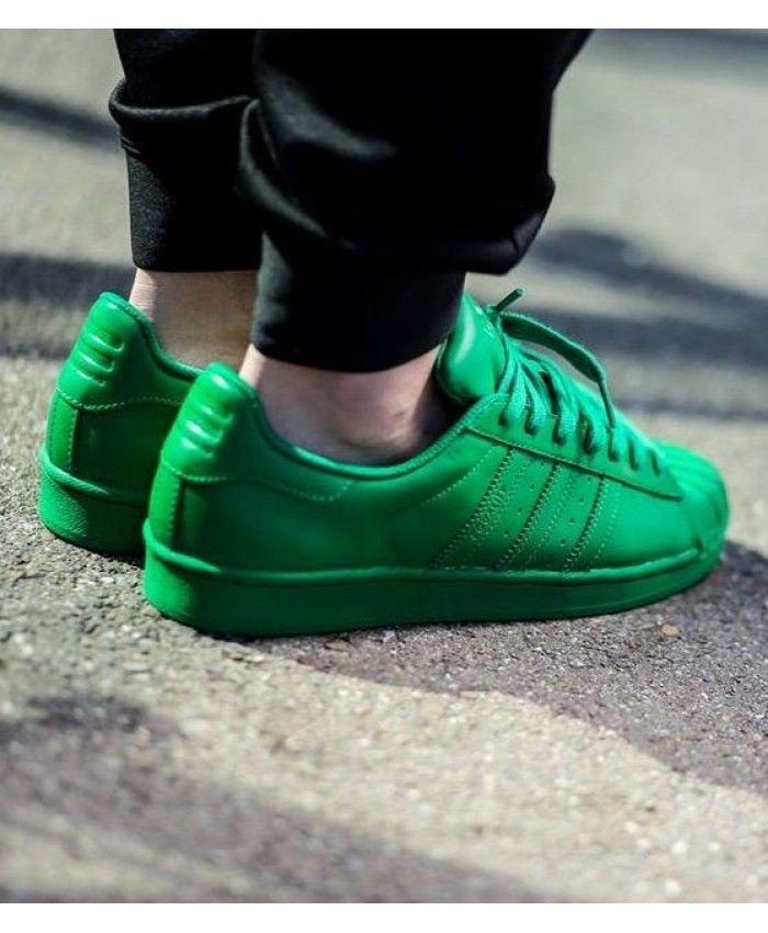 promo code 858b5 4cca9 Adidas Originals Superstar Supercolor Pharrell Williams X Green Sale