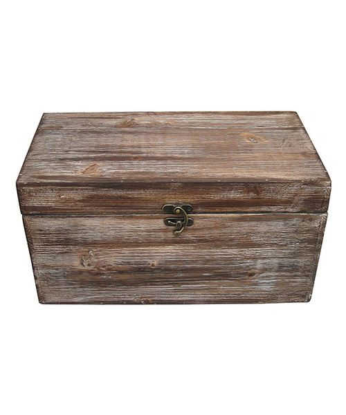Look at this Wooden Storage Chest on #zulily today!