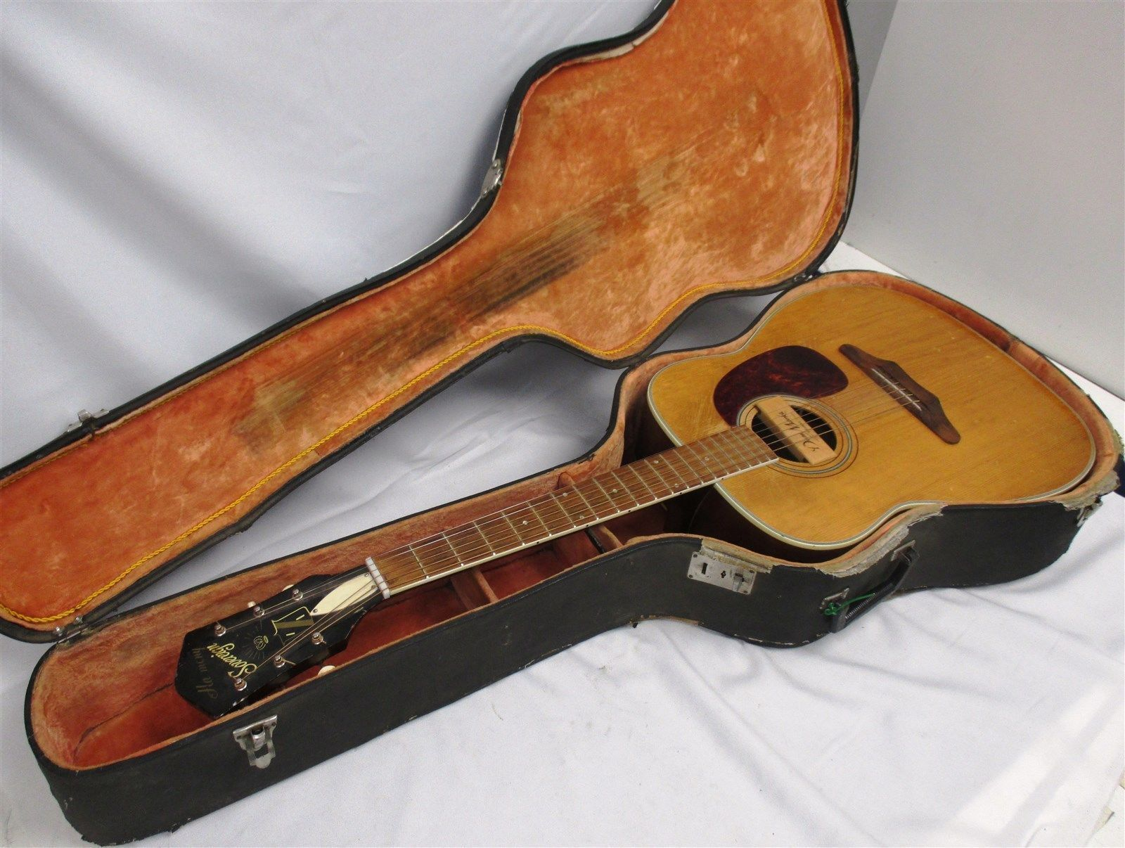 Guitar Vintage Harmony Sovereign Flat Top Acoustic Guitar W