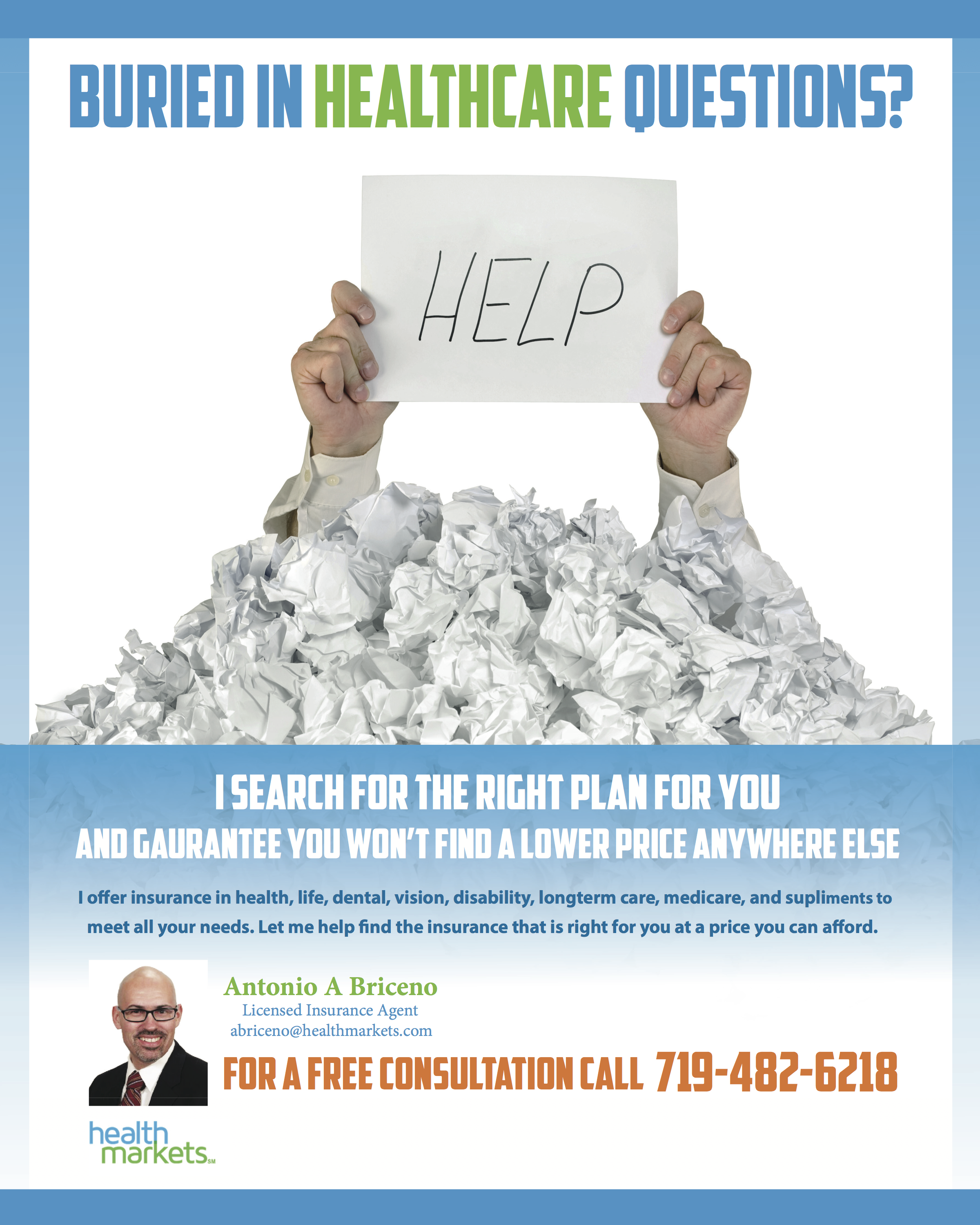 Insurance Ad I Did For An Health Insurance Agent For Sample
