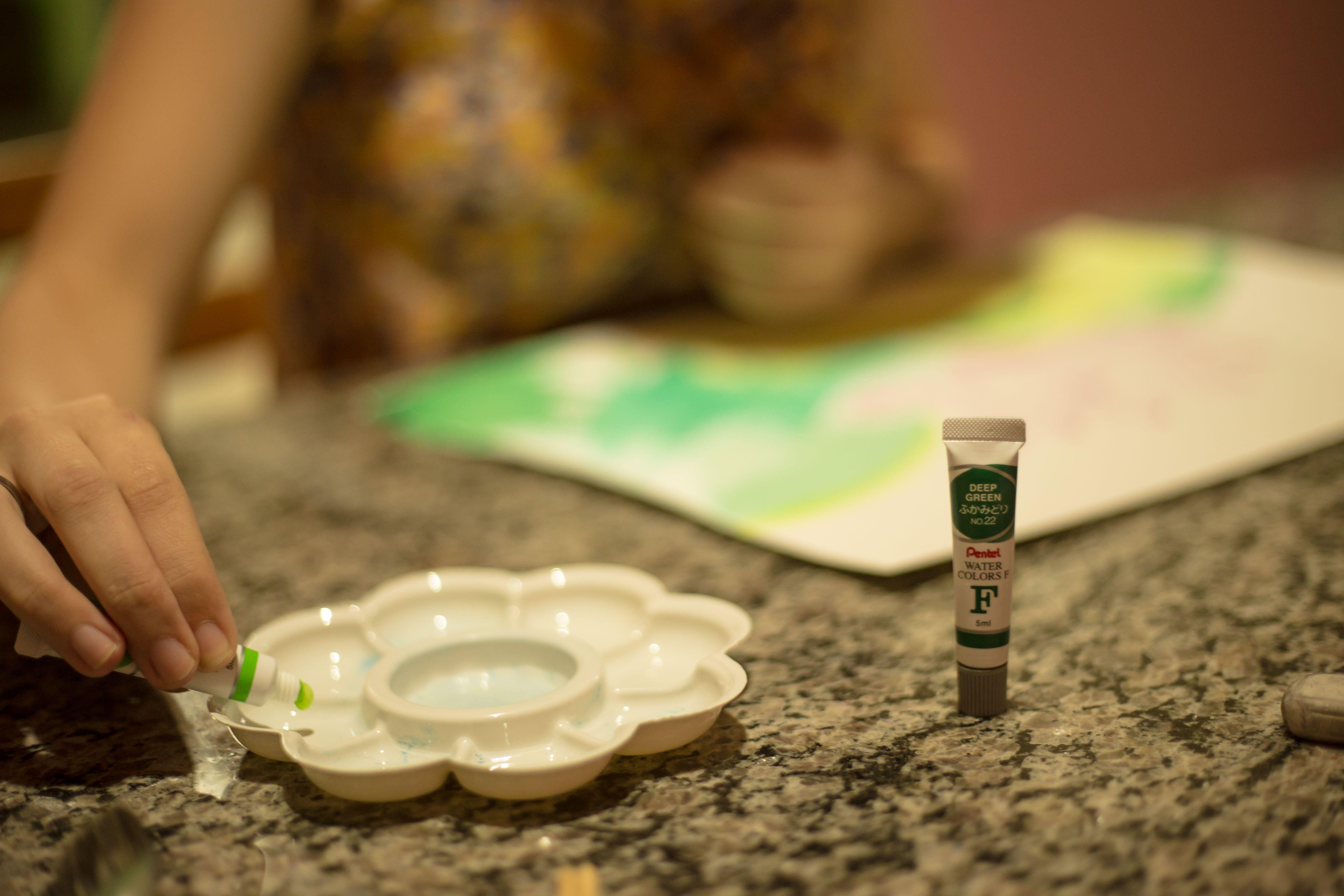 Pintura inspirada em uma fotografia Feito a base de aquarela e lápis aquarelável a seco. Foto de Juninho Ferreira