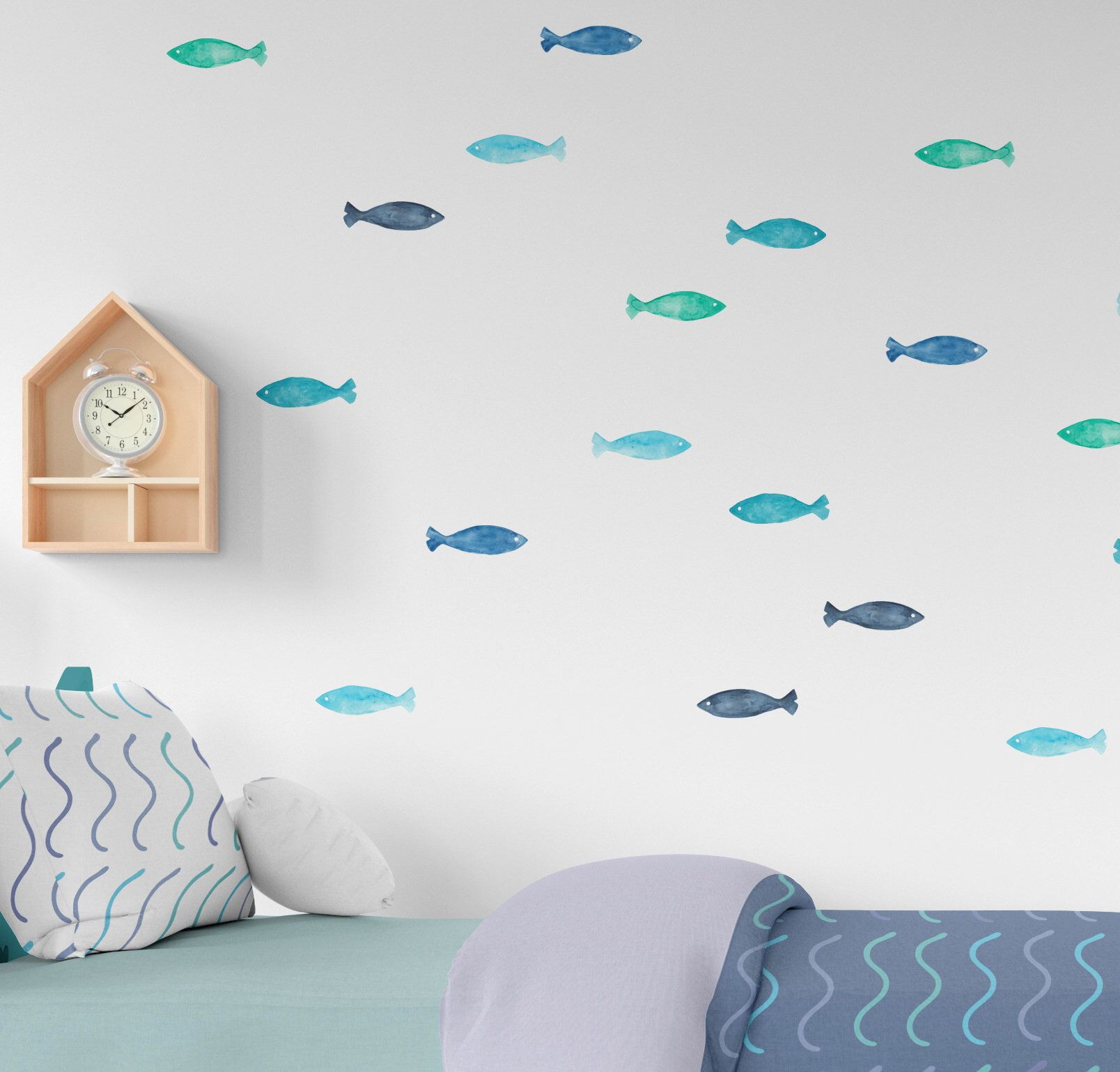 Fish Wall Decals Underwater Room Stickers Nautical Nursery Decor