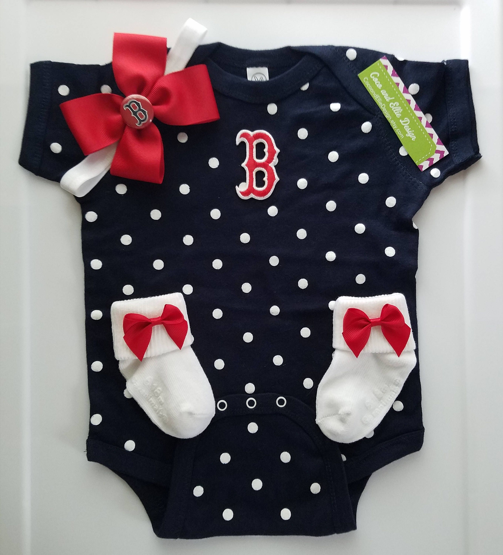 White MLB Infants Boston Red Sox Peanuts Love Baseball Creeper