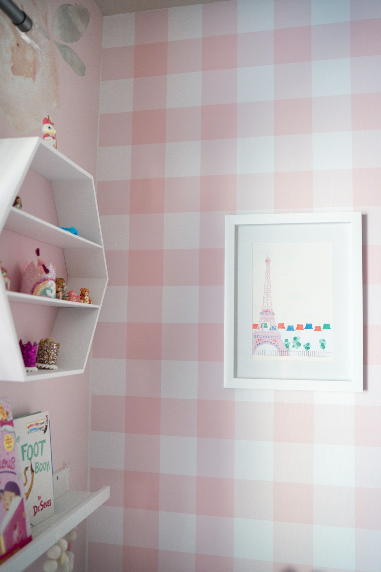 Chelsee from The House of Hood Blog shares colorful girls room decor ideas from the Flower Kids line at Walmart! The most vibrant, whimsical, fun kids home decor line around! #girlsroom #girlsroomdecor #toddlerroom #bunkbeds #wallpaper # homedecor #kidsdecor
