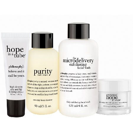 Philosophy 4pc Discovery Makeup Optional Skincare System A271271 Qvc Com Skin Care System Skin Care Best Face Products