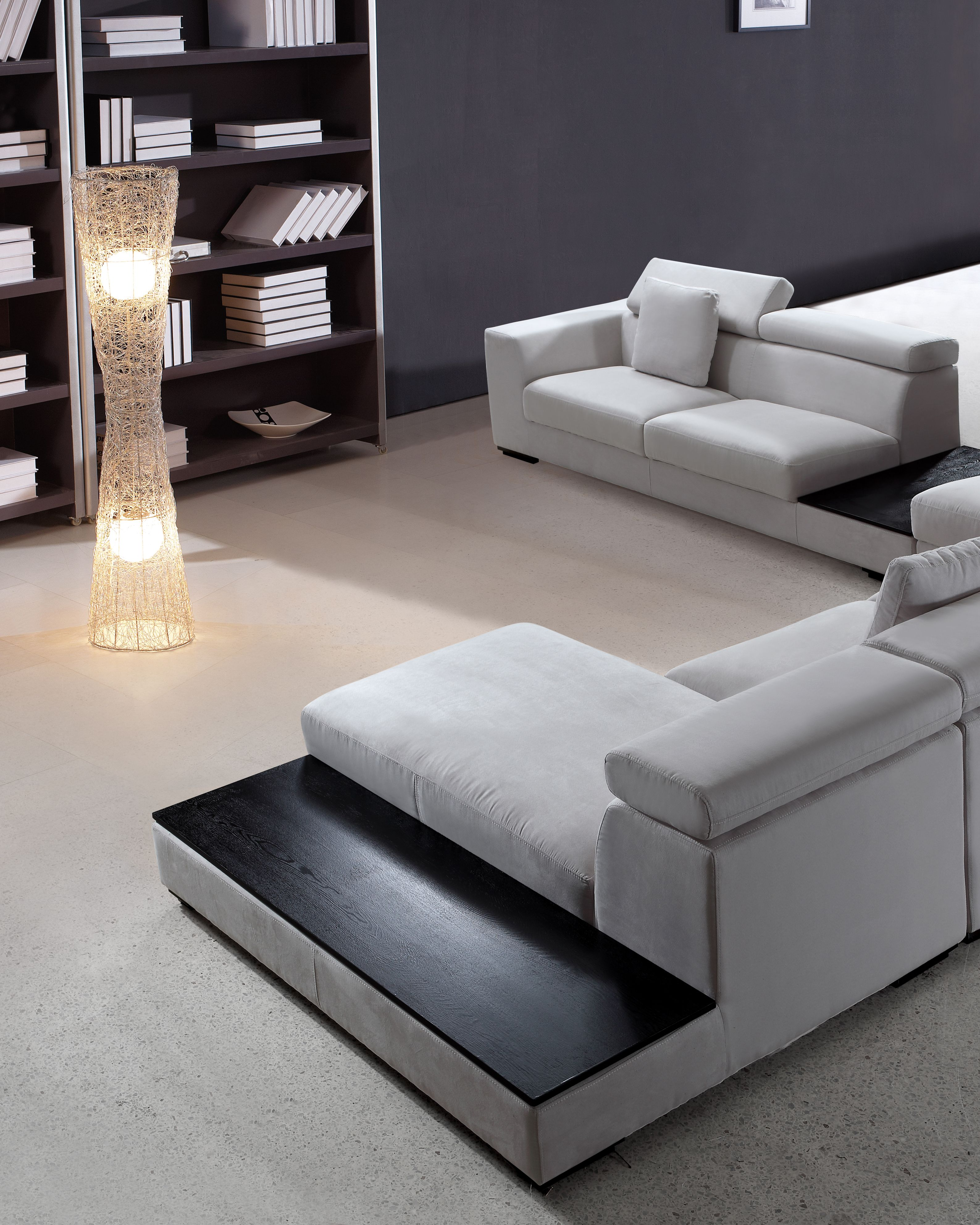 Good Forte Grey Microfiber Modern Sectional