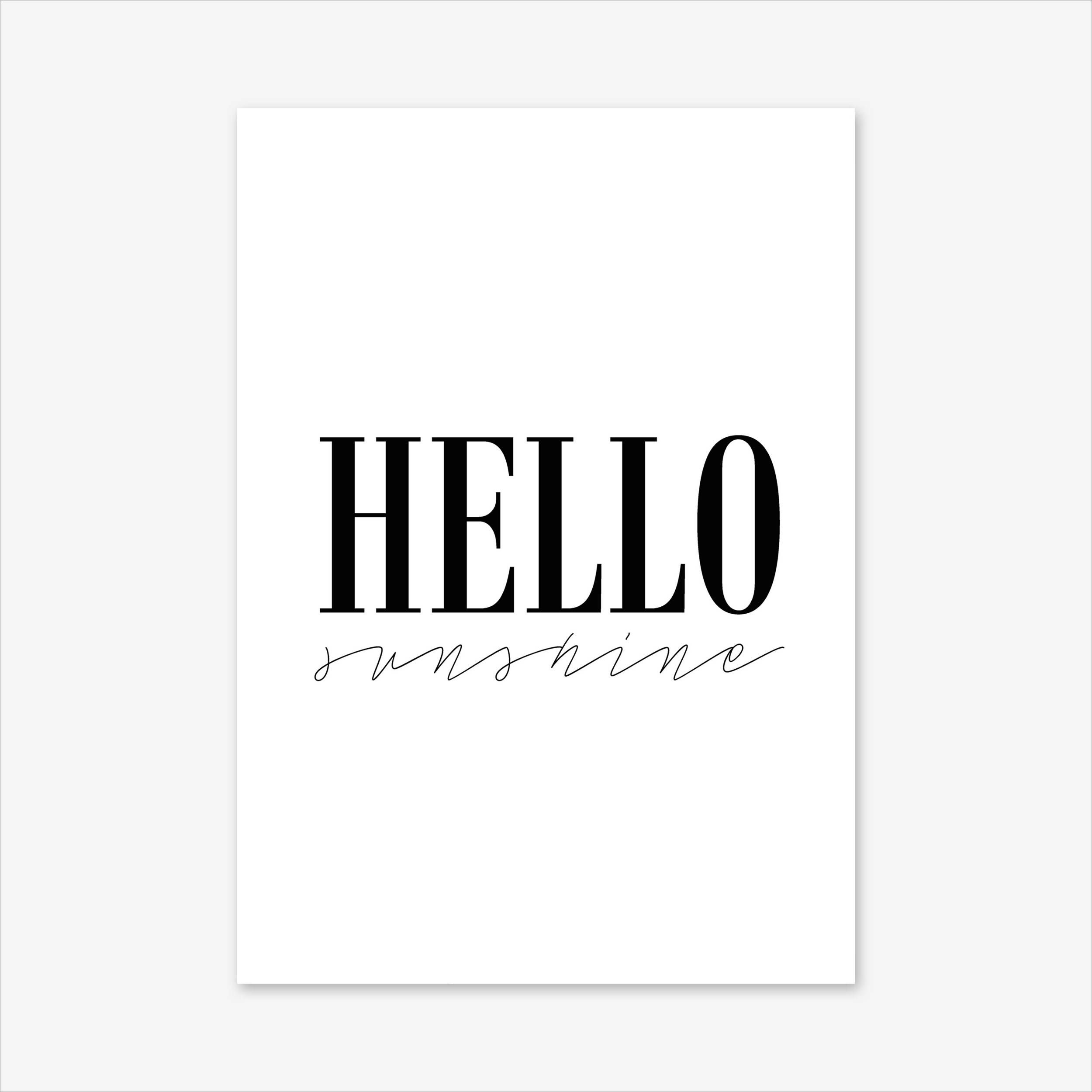 Hello sunshine quote prints romantic gifts framed quotes