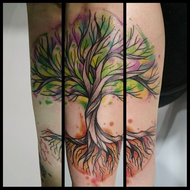 Aquarello Tree Merci Suzanna Toulouse France Tattoo Tatouage