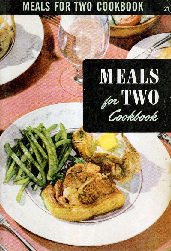 Vintage 1950s Cookbook Meals For Two Culinary Arts Institute Mid