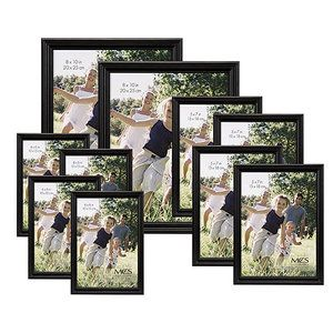 affordable and earth friendly holiday decor just change the picture to reflect the current season traditional black wood frame set set of 10