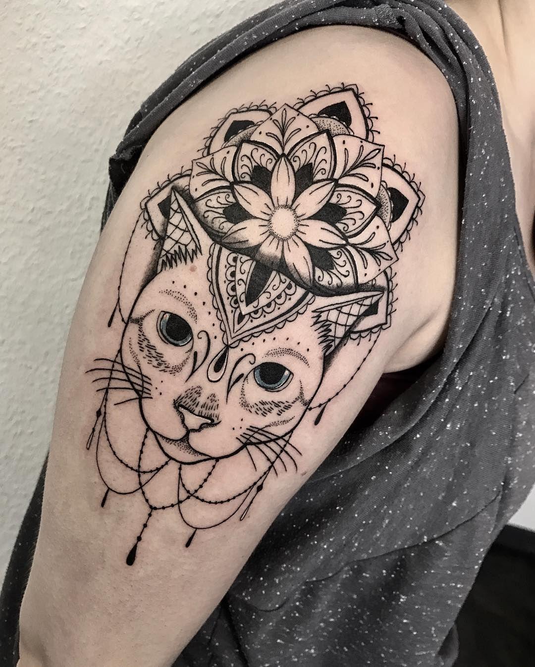 Cat Mandala Tattoo C Tattoo Artist Naomi Claire Tattoos Tattoo Designs Mandala Tattoo Design
