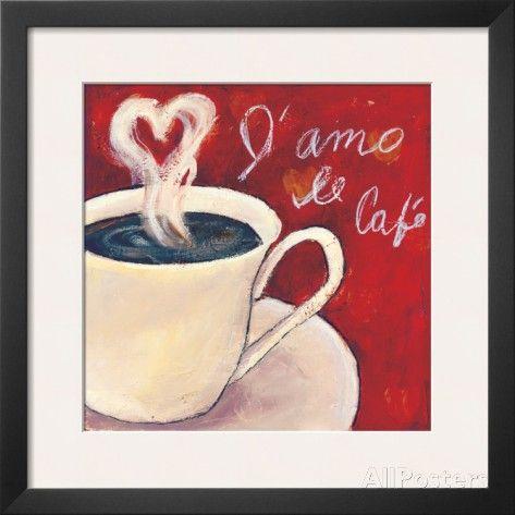 Café Amore I Poster by Tara Gamel at AllPosters.com