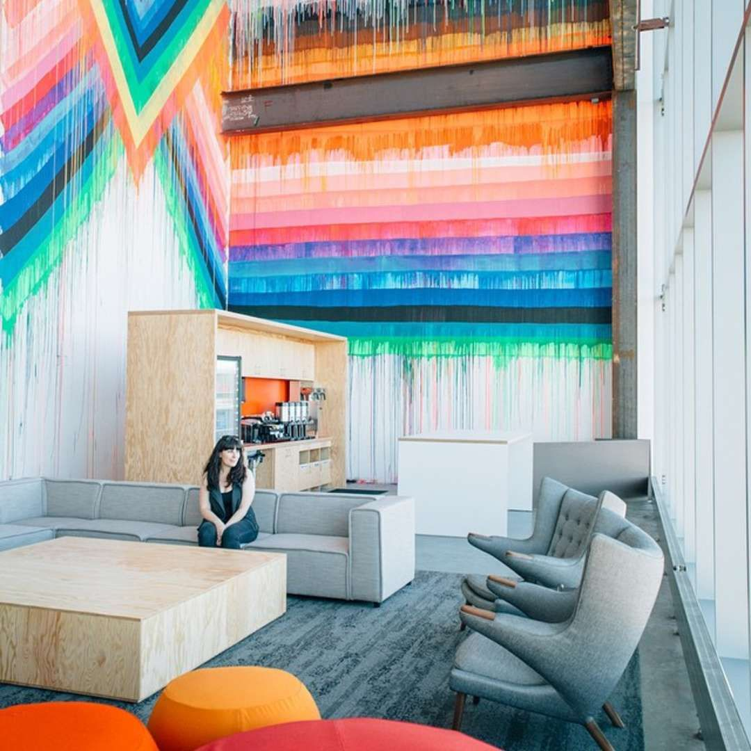 Color art facebook - Color Art Office Interiors The End Of The Office Gehry Designed Facebook Hq Is A