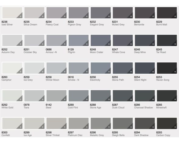 Paint Shades Of Gray Amusing Best 25 Gray Paint Colors