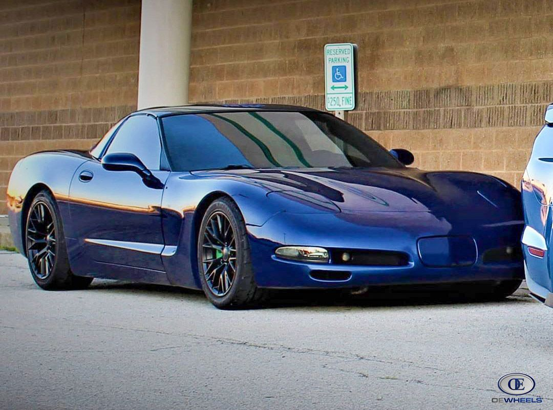 These Black Cv22s Are Hot In 2021 Corvette Wheels C5 Corvette Wheels Rims For Sale