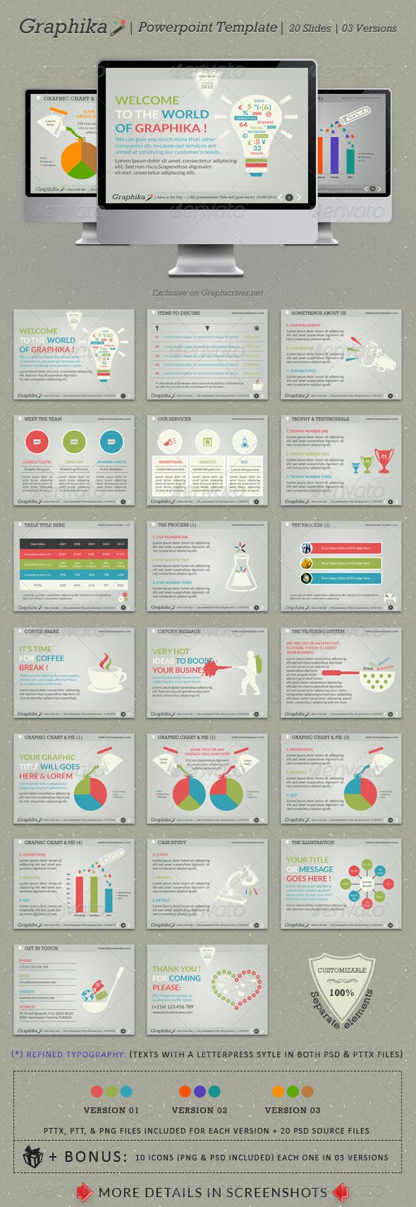 Graphika PowerPoint Template | Template, Ppt design and Presentation ...