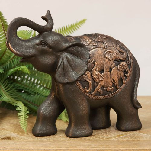 Elephant Ornaments And Statues For Home Decor Gold Elephants Glass Elephants Large Elephant Sculptu Elephant Ornament Elephant Sculpture Elephant Home Decor